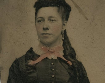 Hand tinted tintype  (360)