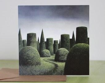 The Queen's Retreat - Fine Art card - Topiary
