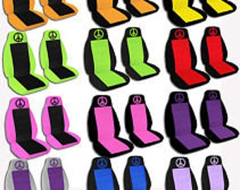 Peace Car Seat Covers....Many Colours...All Cars..