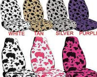 Cow Print Car Seat Covers..7 Colours...made for all Cars...