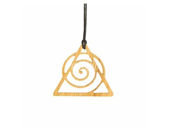 Oak cosmological symbol pendant