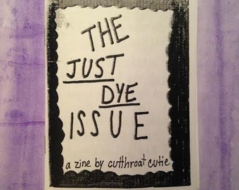 Just Dye zine // hair dye zine