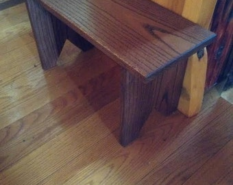 Handcrafted Hardwood Foyer Stool / Plant Stand
