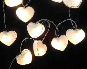 Heart string lights Etsy