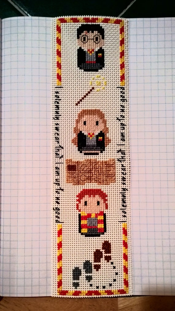 Cross Stitch Harry Potter Parody Bookmark