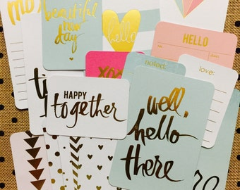Project Life Cards/Heidi Swapp/Gold Foil (Journal Cards, set of 20)