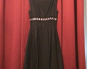 Black Dress with lace ribbon