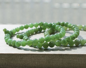 Canadian Jade Mala, 6mm - Jade Bracelet - Natural Jade - Authentic Jade - Summer Sale - 10% off - Promo Code: Summer2017