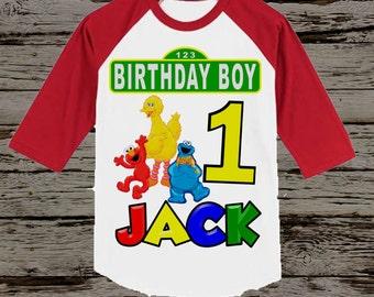 Sesame Street Birthday Shirt - Boy's Sesame Street Birthday Shirt