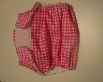 Gingham print cloth diaper for girls!!