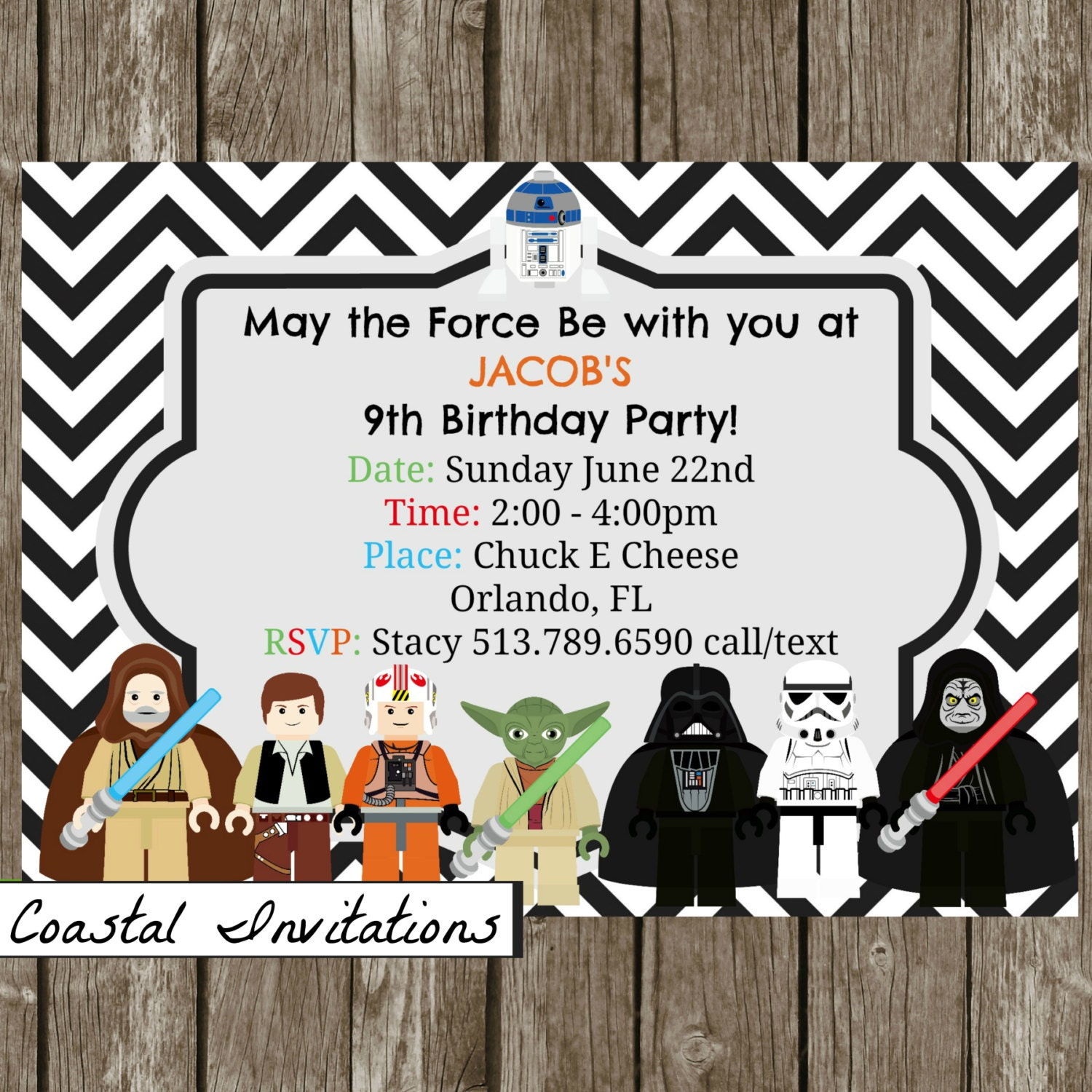 Star Wars Personalized Birthday Invitations as perfect invitation example
