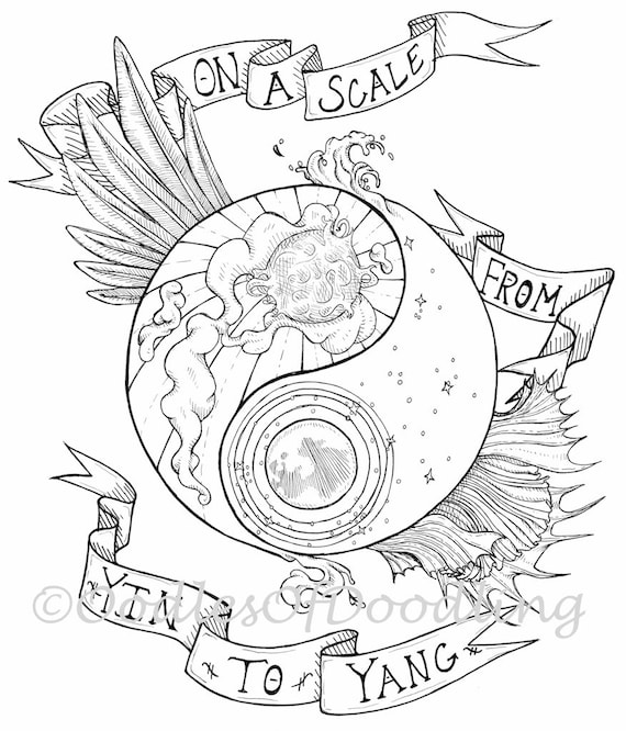 Ying Yang Dream Catcher Coloring Coloring Pages