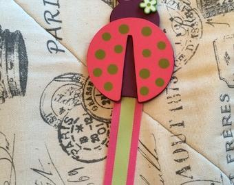 Ladybug hair bow holder/ hair bow organizer/ hair clip organizer/ hair bow holder/ hair clip holder/ girls hair bow holder