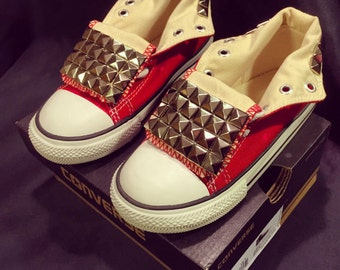 Kids studded Converse shoes