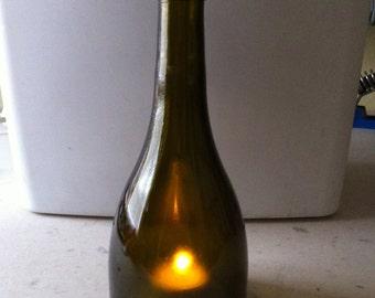 Repurposed wine bottle hurricanes . Buy 4 get 1 FREE !