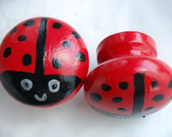 Ladybird Drawer Knob 3 sizes available- 30mm, 40mm, 53mm