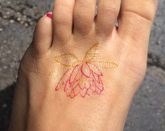Lotus Tattoo, Pretty Tattoo, Temporary Tattoo, Fake Tattoo, Birthday Gift, Just Breathe, Flower Tattoo, Foot Tattoo, Pretty Flower