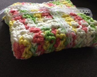 Summer Crocheted Cotton Washcloth