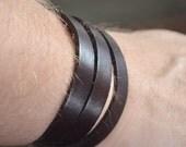Unisex Leather Diffuser Wrap Bracelet