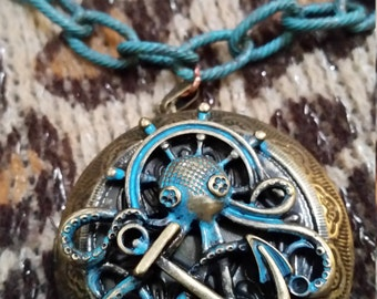 Steampunk Octopus Locket