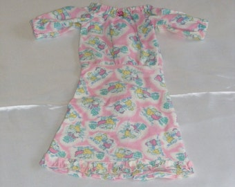 "18""Pink Flannel Doll Nightgown"