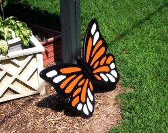 Wood Monarch Butterfly Yard Art