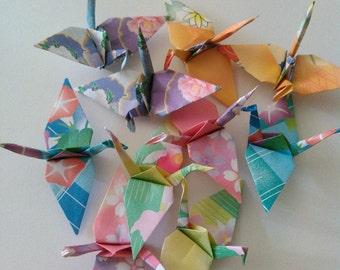 100 small origami paper cranes