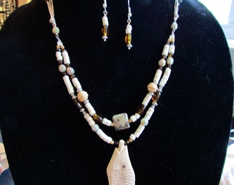 "18"" necklace and earrings"