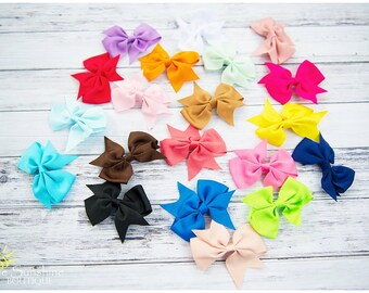 """Ready to Ship. 20 Piece 4"""" Bow Set.  Girl Hair Bows, Baby Hair Bows, Girl Hair Bow Lot."""