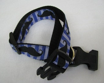 Moustache - Dog Collar - MULTIPLE SIZES AVAILABLE