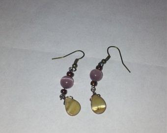 pink earings