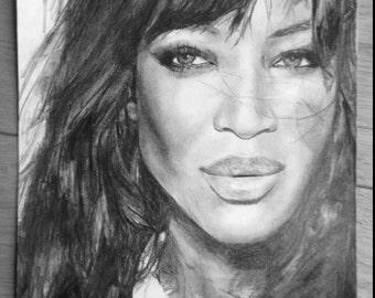 Naomi Campbell Portrait