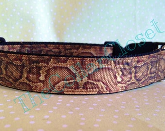 Snakeskin Dog Collar