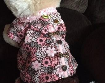 Pink /Brown flower print dress