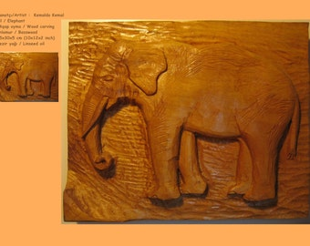 Wood carving - Elephant
