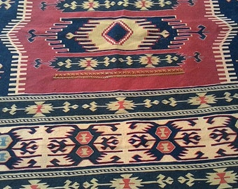 "Home decor,Turkish kilim rug,handmade,112x162 cms (44""x64""inches) vegetable died,traditional designed kilim"