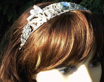 Reworked vintage bridal headband