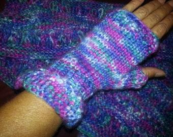 Womens scarf and half mitt set
