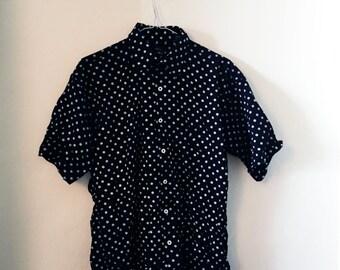 Vintage polka dot shirt (L)