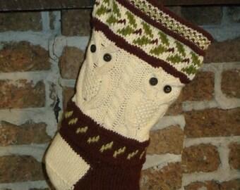 OWLISH STOCKING PATTERN knitting