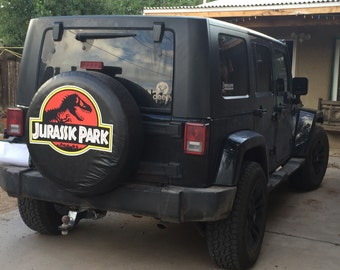 Jurassic Park Tire Cover