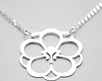 Apricot Blossom Necklace in Stainless Steel