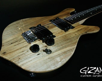 Custom Built Spalted Maple Electric Guitar