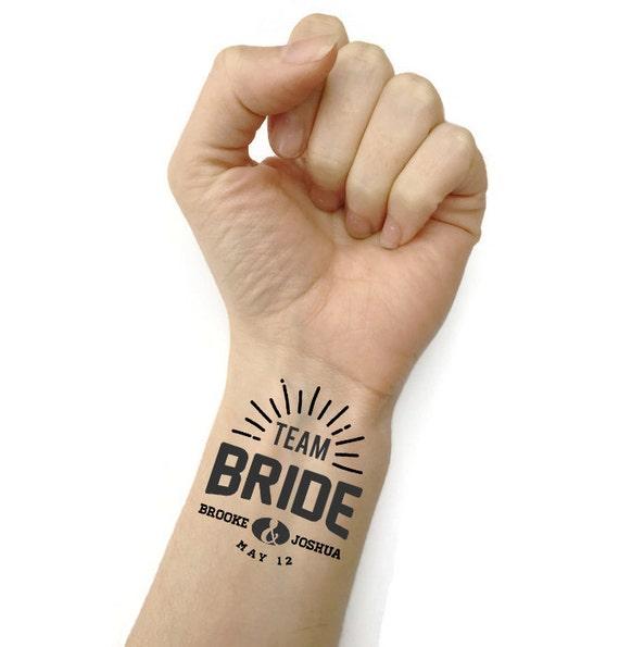 Temporary tattoos team bride wedding by fuzzyandbirchwedding for Temporary tattoos wedding