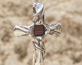 Sterling Silver Cross, with New Testament