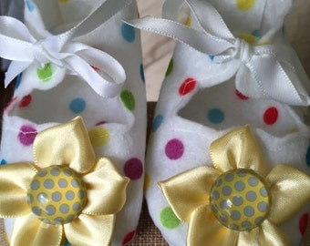 Multi Color Polka Dots Baby Booties