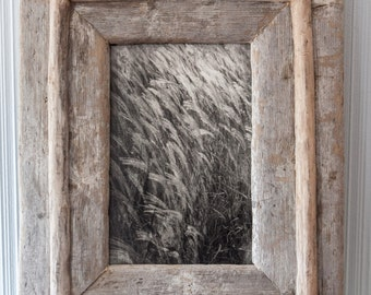 "Custom Driftwood Framed Fine Art Photograph  ""Grasses"""