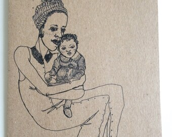 Mother & Child Notecard (Blank)