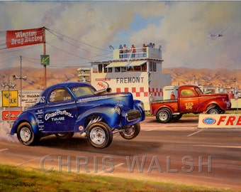 "Fine Art prints ""Airoso Bros."" at Fremont by artist Chris Walsh"