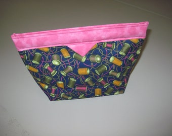 Pink/Navy Snap Closure Bag.